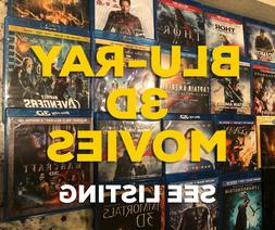 Blu-ray 3D movies - RARE movies! Excellent price! See listin