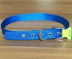 blue dog collar large puppy pet adjustable