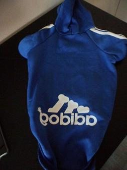 blue pet dog hoodies clothes cotton hooded