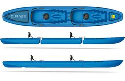 BLUE SEAFLO Tandem 3-Piece Modular Kayak 2-Person Sit-On-Top