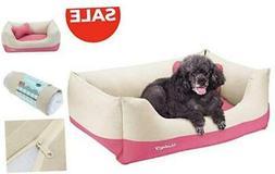 Blueberry Pet Heavy Duty Pet Dog Bed - Medium Canvas Bed - B