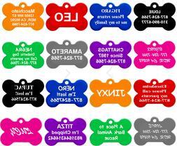 Bone Shape Pet ID Tags, Dog Tags, 8 Colors to Choose,