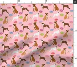 Boxer Dog Dogs Pets Donuts Desserts Food Pet Fabric Printed