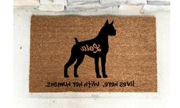 boxer gift personalized pet doormat dog gift