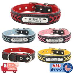 braided custom personalized dog collar leather padded