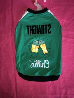 """Top Paw Brand Pet Dog Green """"Straight Chillin'"""" Tee for Medi"""