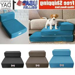 breathable mesh foldable pet stairs detachable pet