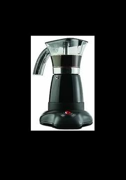 Brentwood TS-118BK Electric Moka Pot Espresso Machine, 6-Cup