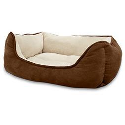 Petco Brown Box Dog Bed, 24 L X 18 W X 7 H
