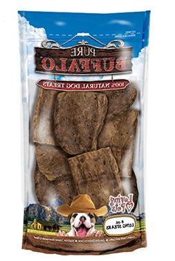 Loving Pets Pure Buffalo Lung Steaks Dog Treat, 8 -Ounce