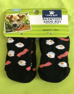 BUNDLE - Top Paw Brand Pet Dog - Bacon & Egg Socks & Bandana