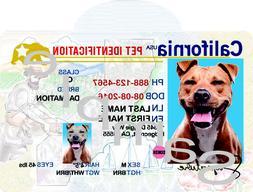 California License Custom Pet ID Tag