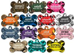 Camo Custom Pet Id Dog Tag Personalized w/ Your Pet's Name &