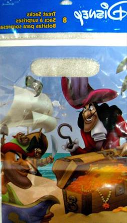 CAPTAIN HOOK and PETER PAN FAVOR BAGS  ~ Birthday Party Supp
