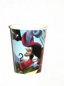 CAPTAIN HOOK/PETER PAN    8-PAPER CUPS 9 FL. OZ. -   PARTY S