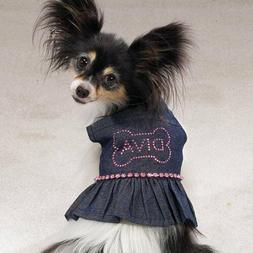 casual canine Denim Doggy pet puppy Diva Sundress