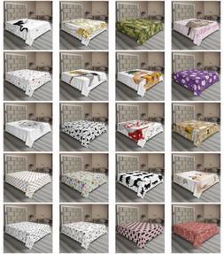 Ambesonne Cat Design Flat Sheet Top Sheet Decorative Bedding