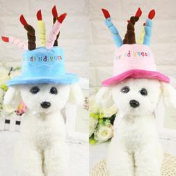 Cat dog pet happy birthday candles hat cosplay costume dress