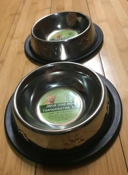 Cat Food Bowl Small Pet Bowl Steel Pet Feeder Non Skid Dry F