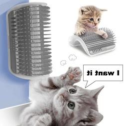 Cat Pet Self Groomer Brush Wall Corner Grooming Massage Comb