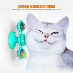 Cat Turning Windmill Turntable Tickle Cat Toy Scratch Hair B