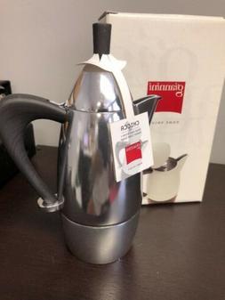 Giannini Chicca 3/1 Cup Stovetop Espresso Pot BNIB Black Han