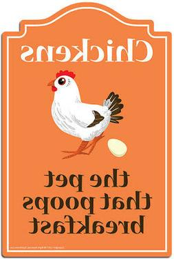 Chickens The Pet That Poops Breakfast Decal | Funny Home Dec