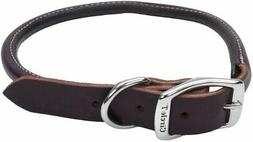 "Circle T Leather Coastal Pet Products Round Dog Collar, 1"" x"