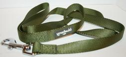 Blueberry Pet Classic Solid Color Leash - Military Green - M