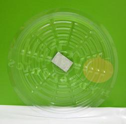"CLEAR 12"" inch SAUCER  Reuseable Sturdy Plant Pot Tray Pan"