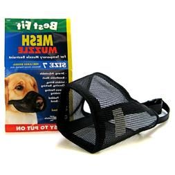 "Coastal Pet Best Fit Mesh Dog Muzzle Select A Size 3"" to 13"