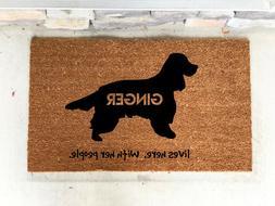 Cocker Spaniel dog Gift -Pet Gifts- Welcome Mat- Cocker Span