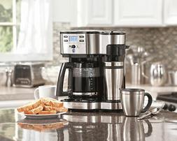Coffee Maker 2-Way Brewer Single Serve/12-Cup Coffee Pot Pro