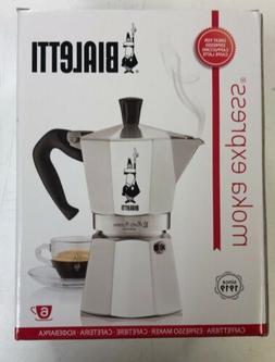 Bialetti Coffee Pot Express 6 Cup Stovetop Espresso Maker Ki