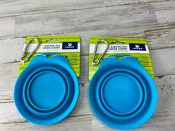 Top Paw Collapsible Travel Dog Bowl  Lot Of 2 Hydrate Your P