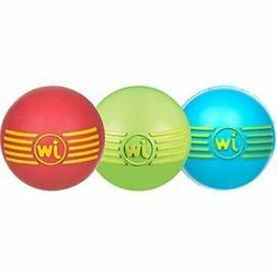 JW Pet Company iSqueak Ball Rubber Dog Toy, Large, Colors Va