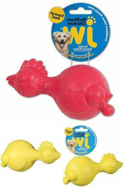 Jw Pet Company Ruffians Chicken Dog Toy Medium Colors Vary