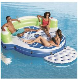 CoolerZ Kick Back Lounge Inflatable Floating Island - 5 Pers