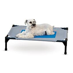 K&H Pet Products Coolin' Cot Elevated Bed Medium Gray/Blue 2