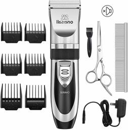Cordless Electric Quiet Hair Clippers Set for Dogs Cats Pets