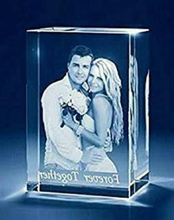 Couple Image 3D Photo Personalized Laser Engraved Crystal Cu