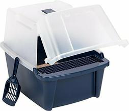 Covered Cat Litter Box With Lid Scoop Cleaning Grate Kit Cat