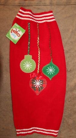 Crazy About Pets  Xmas Sweater Red/Green/Gold/White XL NWT B
