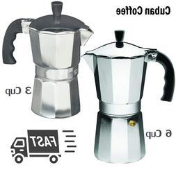 Cuban Coffee Maker Stove Top Italian Espresso Stovetop Moka