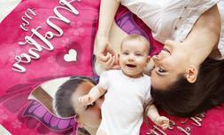 Custom Comfy Baby Blanket Photo Mink Fleece Personalized and