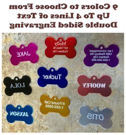 Custom Engraved Dog Tag Pet Bone ID Identification USA Doubl
