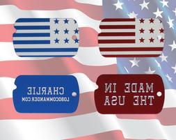 Custom Engraved Personalized Patriotic American Flag Militar