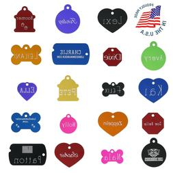 CUSTOM ENGRAVED PET ID TAG Personalized IDENTIFICATION Charm