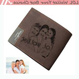 Custom Holder Photo Slim Bifold Man Wallet Personalized Fath