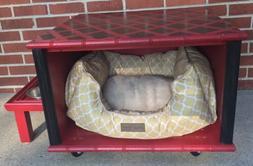 Customized Handmade Dog Pet Bed With Feeding Bowl